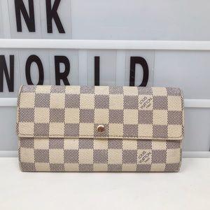Louis Vuitton Sarah Damier Azur Long wallet